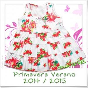 Vestido algodón floreado